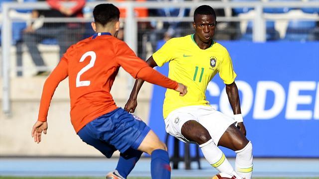 Amistoso sub 20: Chile-Brasil: La conexión Rodrygo-Vinicius Júnior funciona e ilusiona (1-1)