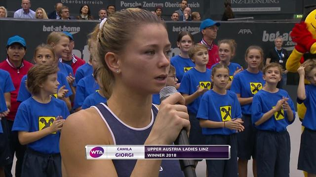 Giorgi lifts Linz trophy
