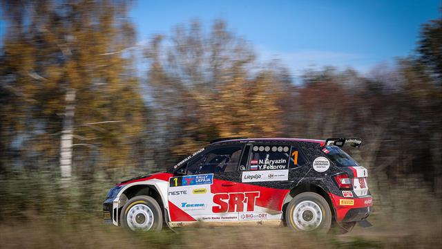 Day report: Gryazin scores a treble on Rally Liepāja
