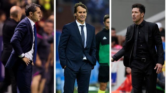 El problema que comparten Barça, Madrid y Atleti: ¿Qué inventarán Valverde, Lopetegui y Simeone?