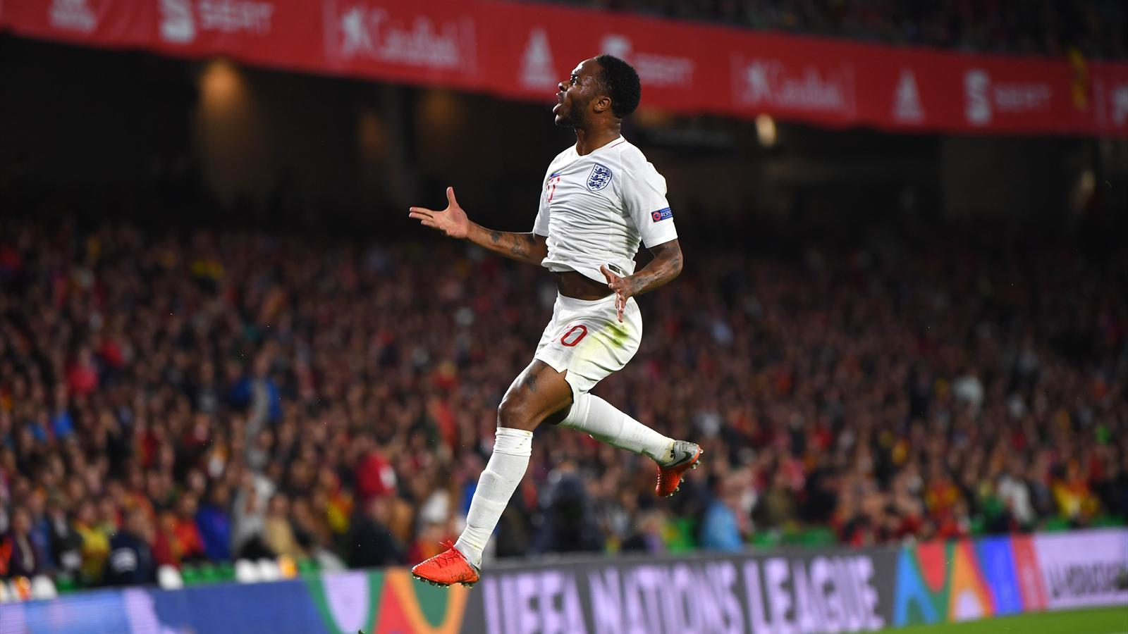 raheem sterling ends goal drought as england stun spain