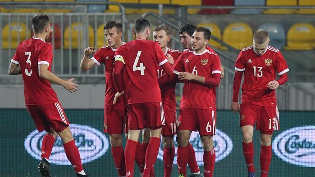 Футболисты молодежной сборной РФ несмогли пробиться наЕвро
