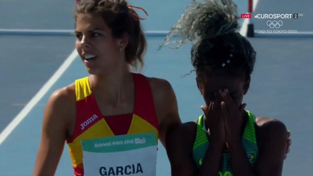 Buenos Aires 2018: Carla García, bronce en 400 vallas y un enorme gesto con su rival