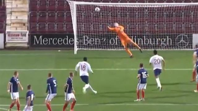 Arsenal youngster Nelson scores stunning free-kick for England Under-21s
