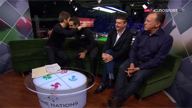 'Thank you, Ronnie!' - O'Sullivan gets hugged in studio