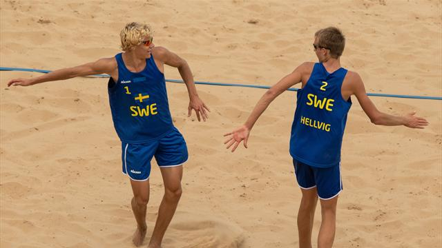 Youth Olympic Games: Sweden win gold in men's beach volleyball