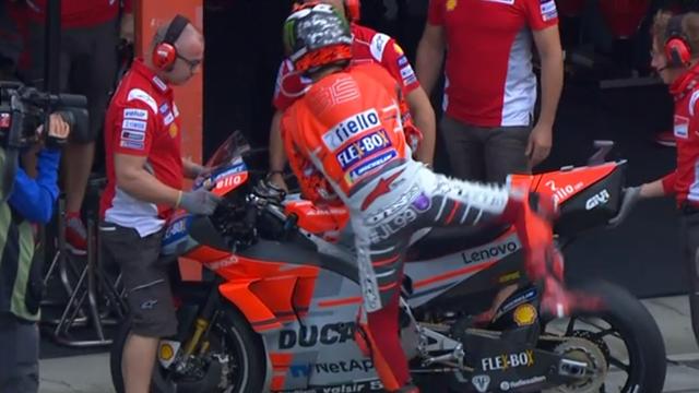Un tour de test, un tour de trop pour sa fracture : Lorenzo a jeté l'éponge d'entrée