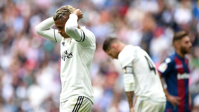 Le Real Madrid s'incline sur sa pelouse face à Levante (1-2)