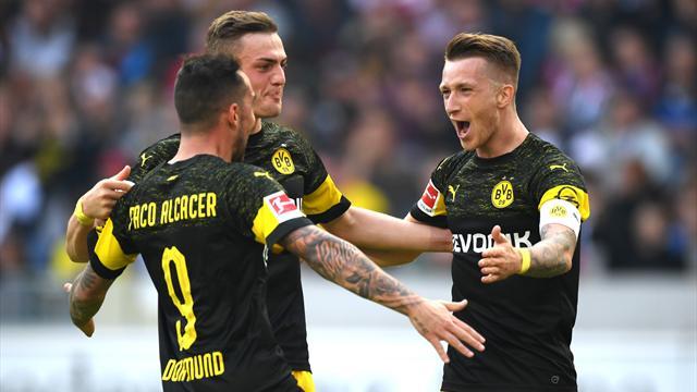 Rivales españoles Champions: El Dortmund de Alcácer golea al Stuttgart y avisa al Atleti (0-4)