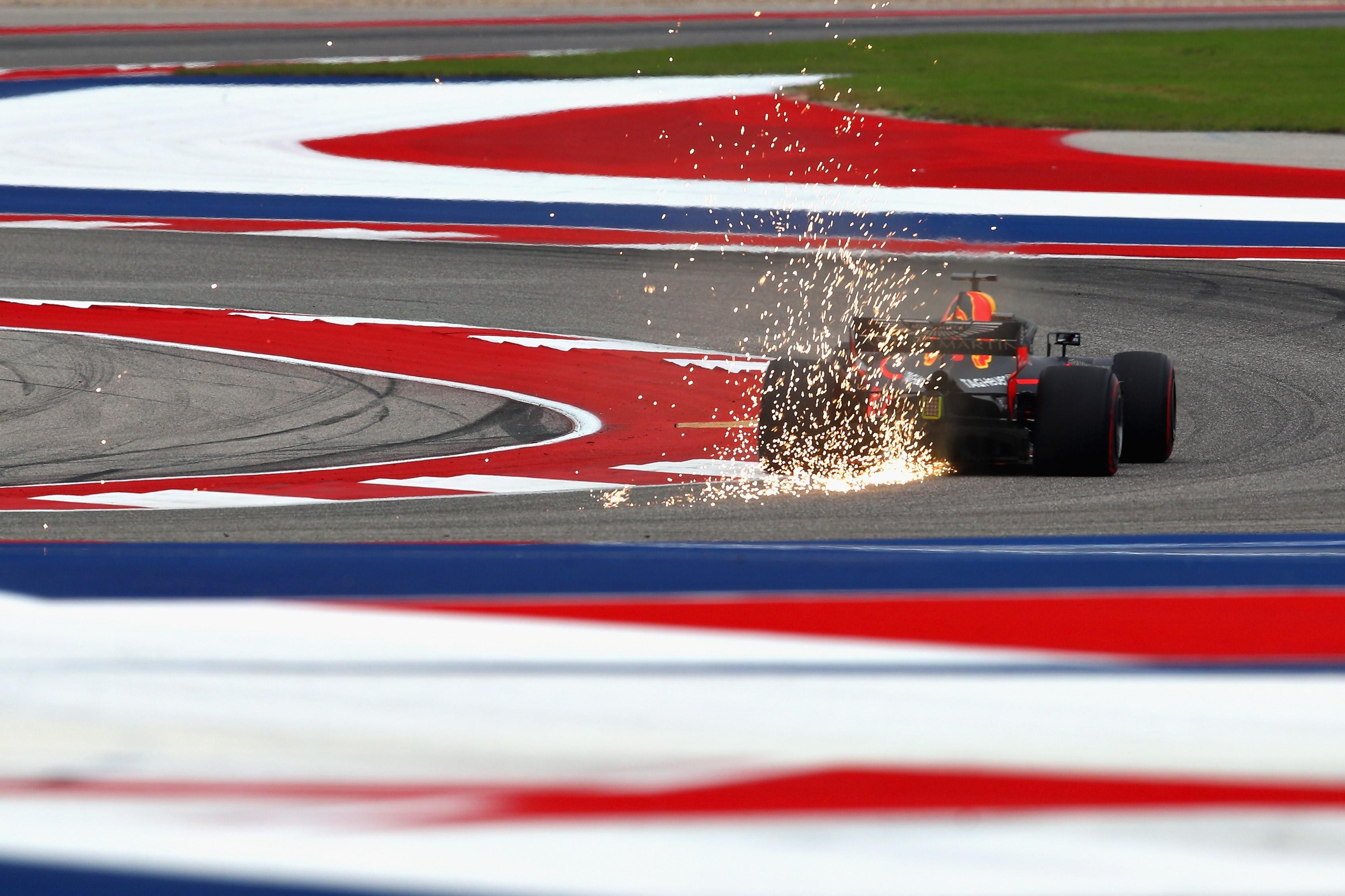 Daniel Ricciardo (Red Bull )au Grand Prix des Etats-Unis 2018