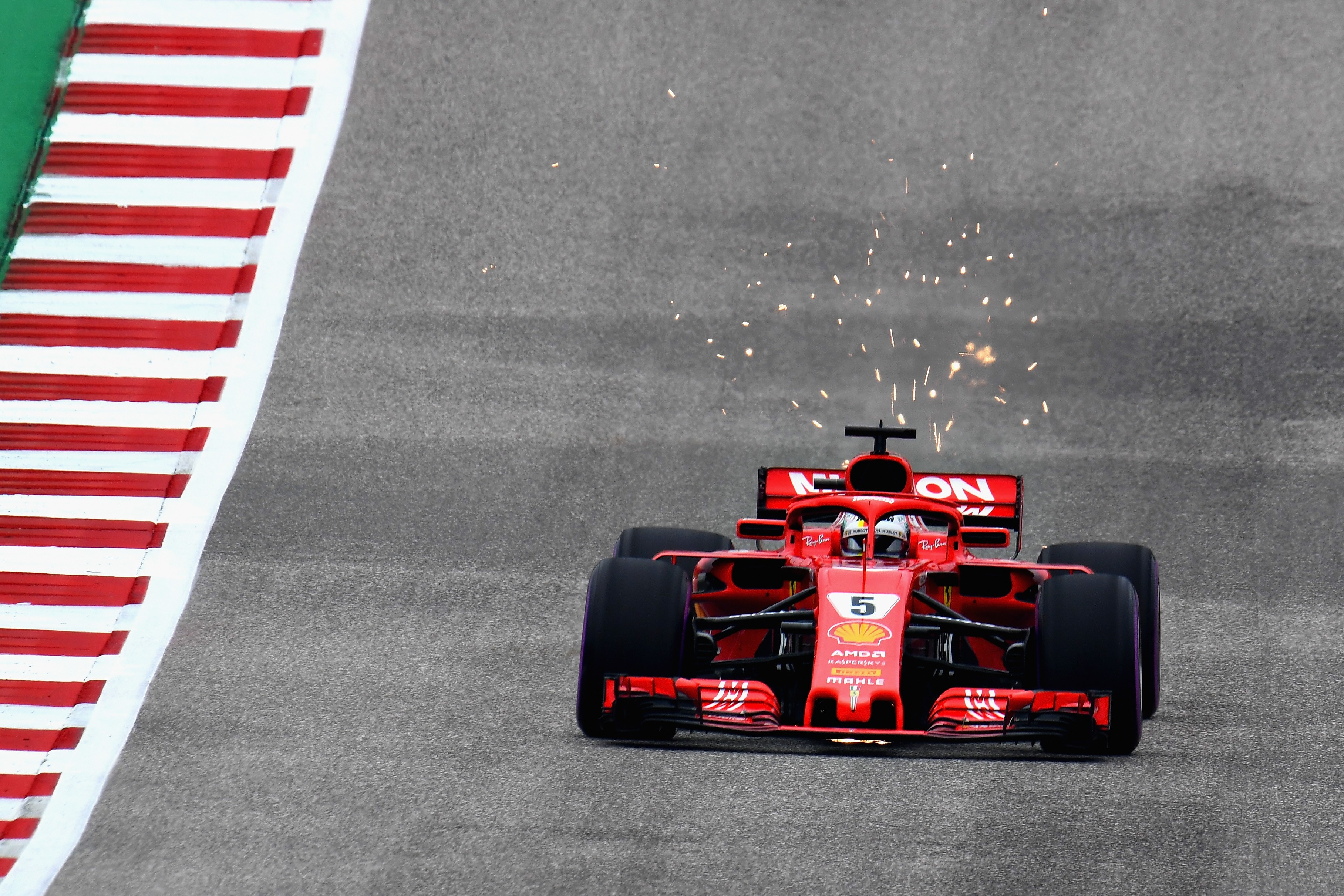 Sebastian Vettel (Ferrari) au Grand Prix des Etats-Unis 2018