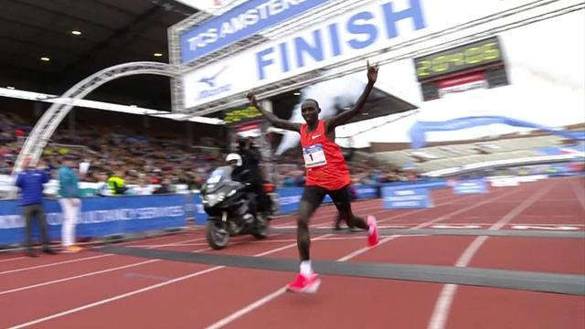 Lawrence Cherono sets course record in Amsterdam marathon