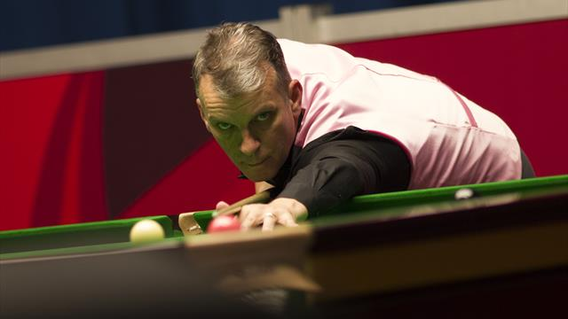 English Open: Mark Davis completes century break to tie with Stuart Bingham after first session