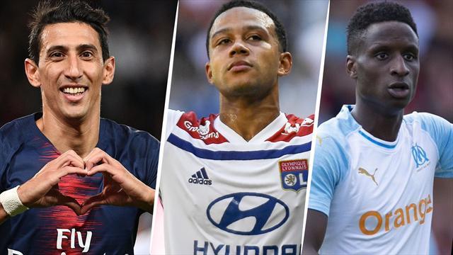 Di Maria, Depay, Sarr… Votez pour le meilleur joueur de la 10e journée de Ligue 1
