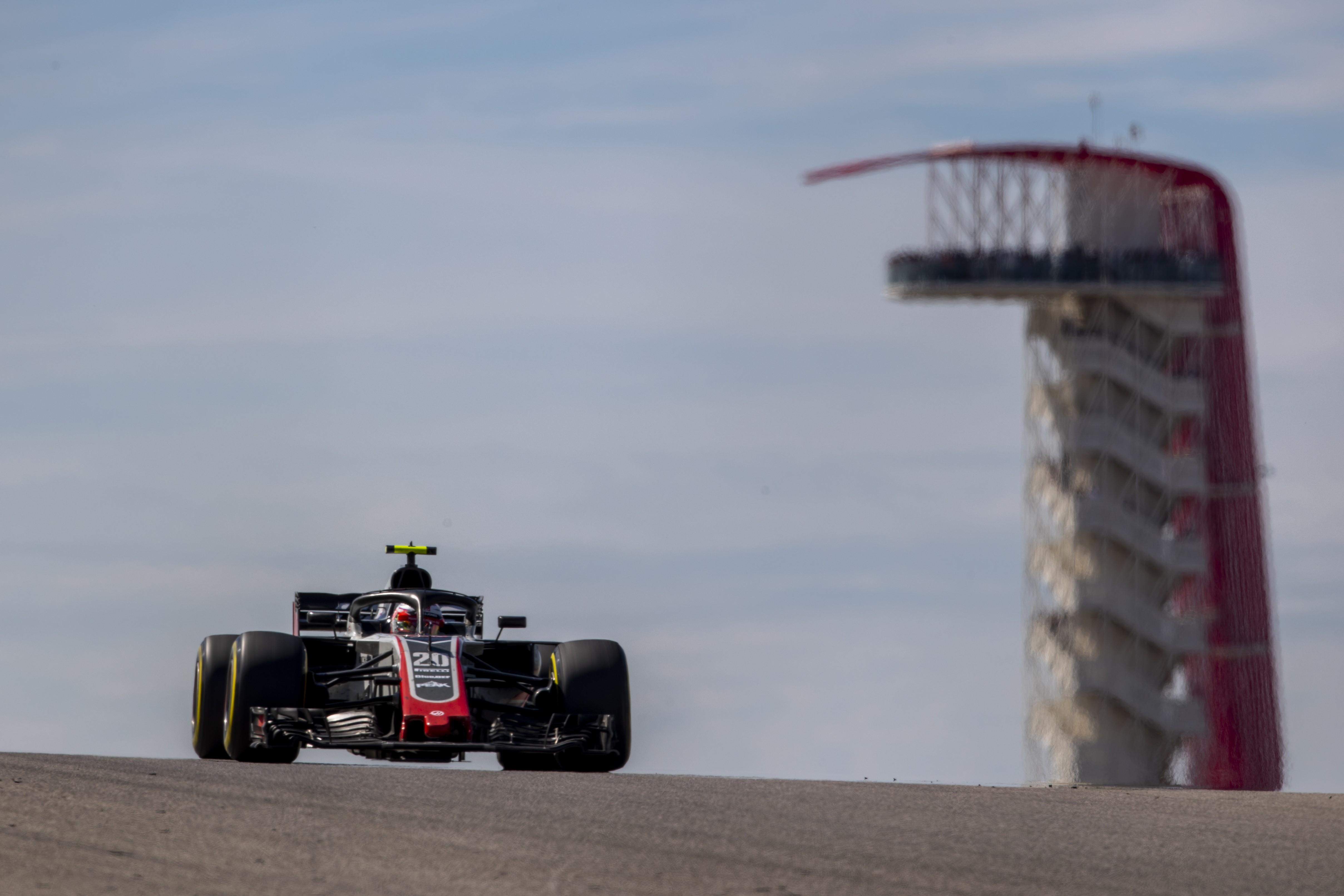 Kevin Magnussen (Haas) lors du Grand Prix des Etats-Unis 2018