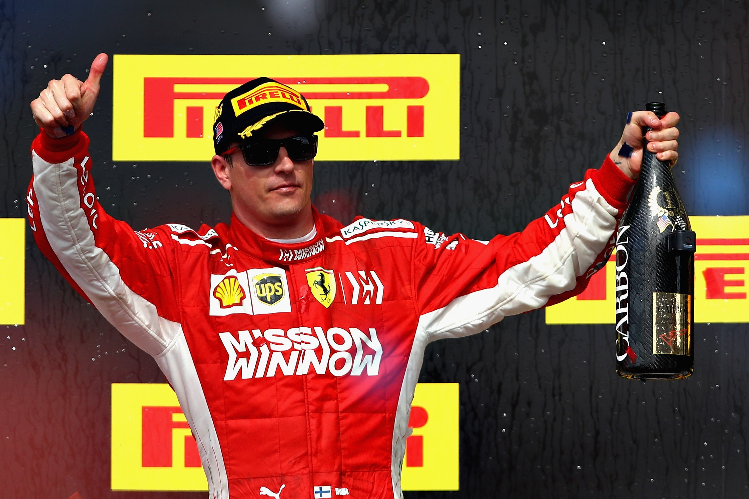 Kimi Räikkönen (Ferrari) au Grand Prix des Etats-Unis 2018