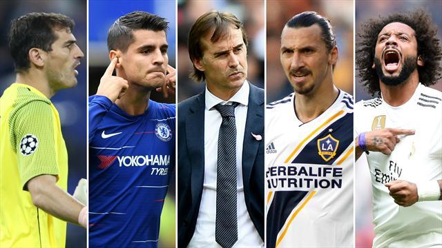 Casillas, Morata, Lopetegui, Ibrahimovic y Marcelo, los nombres del día