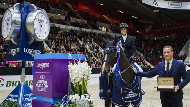 Gudrun Patteet triomphe dans la Coupe du monde de Helsinki