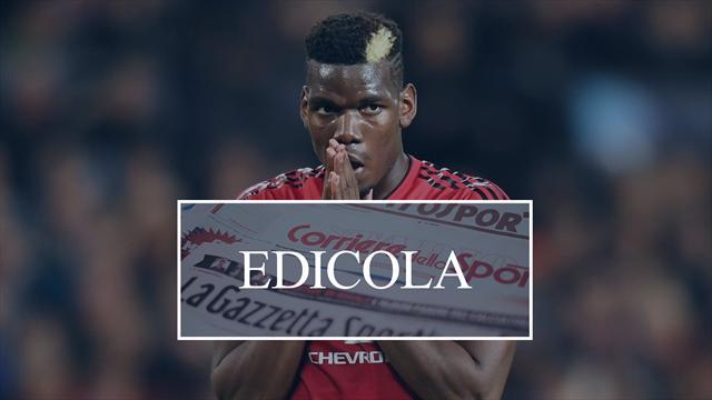 Edicola: Real su Eriksen, la Juventus ha strada libera su Pogba? Ranieri-Samp sempre più vicini