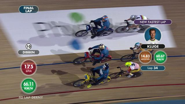 Perfektes Timing: Kluge im Derny-Rennen der Schnellste