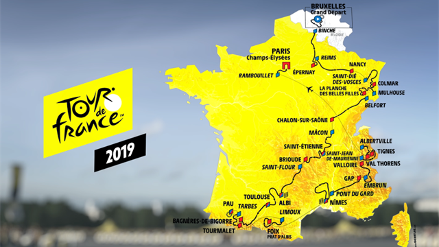 Trente cols et trois arrivées à plus de 2000 m : découvrez le parcours du Tour 2019