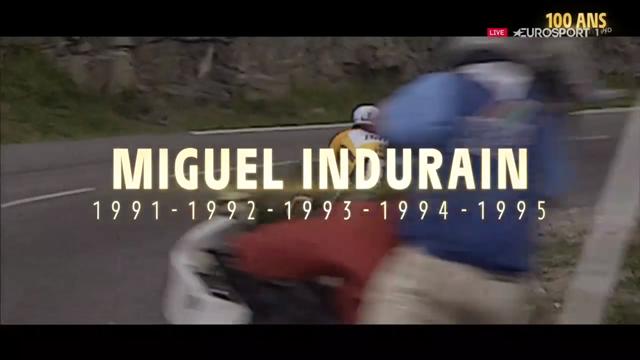 Miguel Indurain, gran protagonista del emotivo vídeo de los cien años del maillot amarillo del Tour
