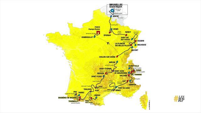 Grafik: Så körs Tour de France 2019 - fem bergsmålgångar