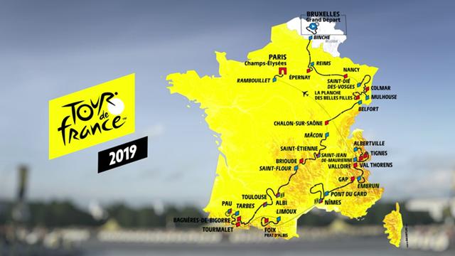 Tour 2019: Die Strecke in der 3D-Animation