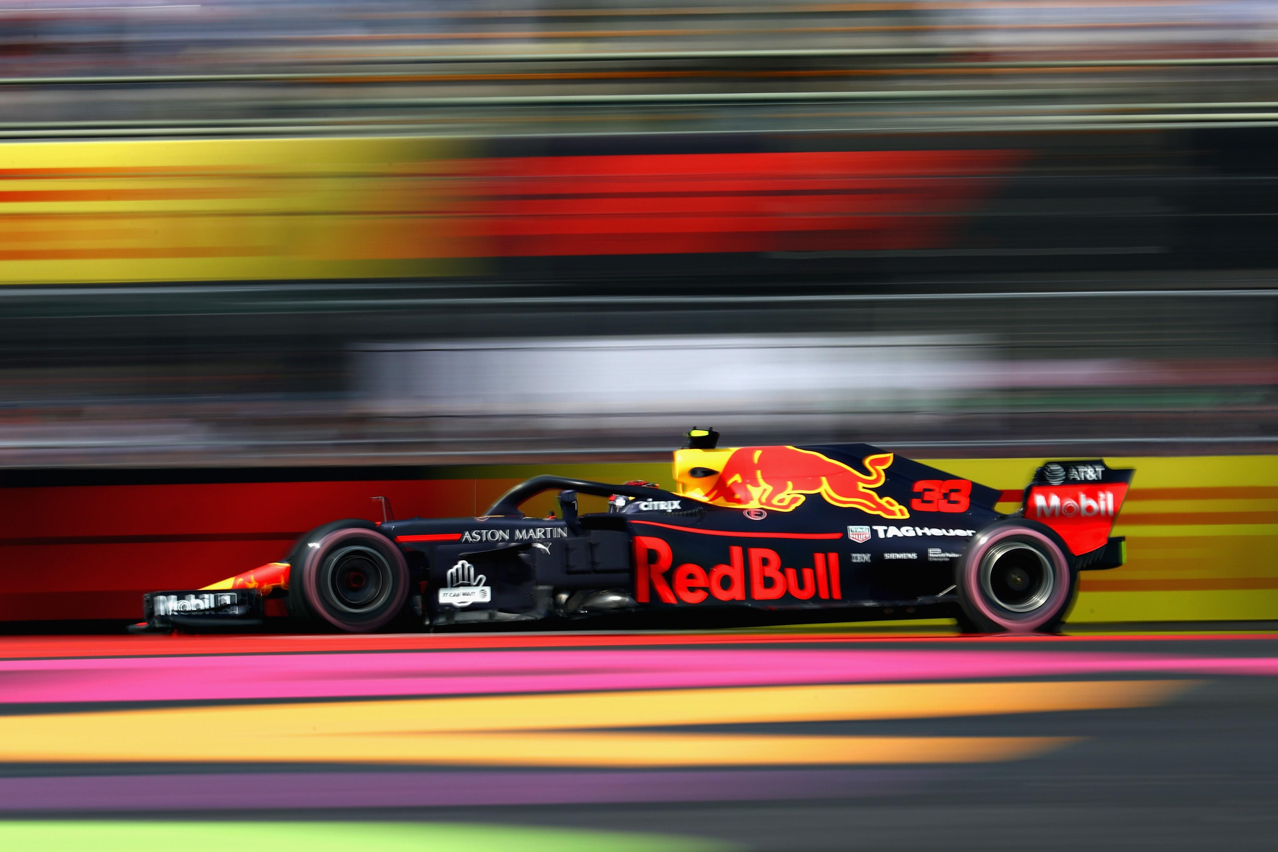 Max Verstappen (Red Bull) au Grand Prix du Mexique 2018
