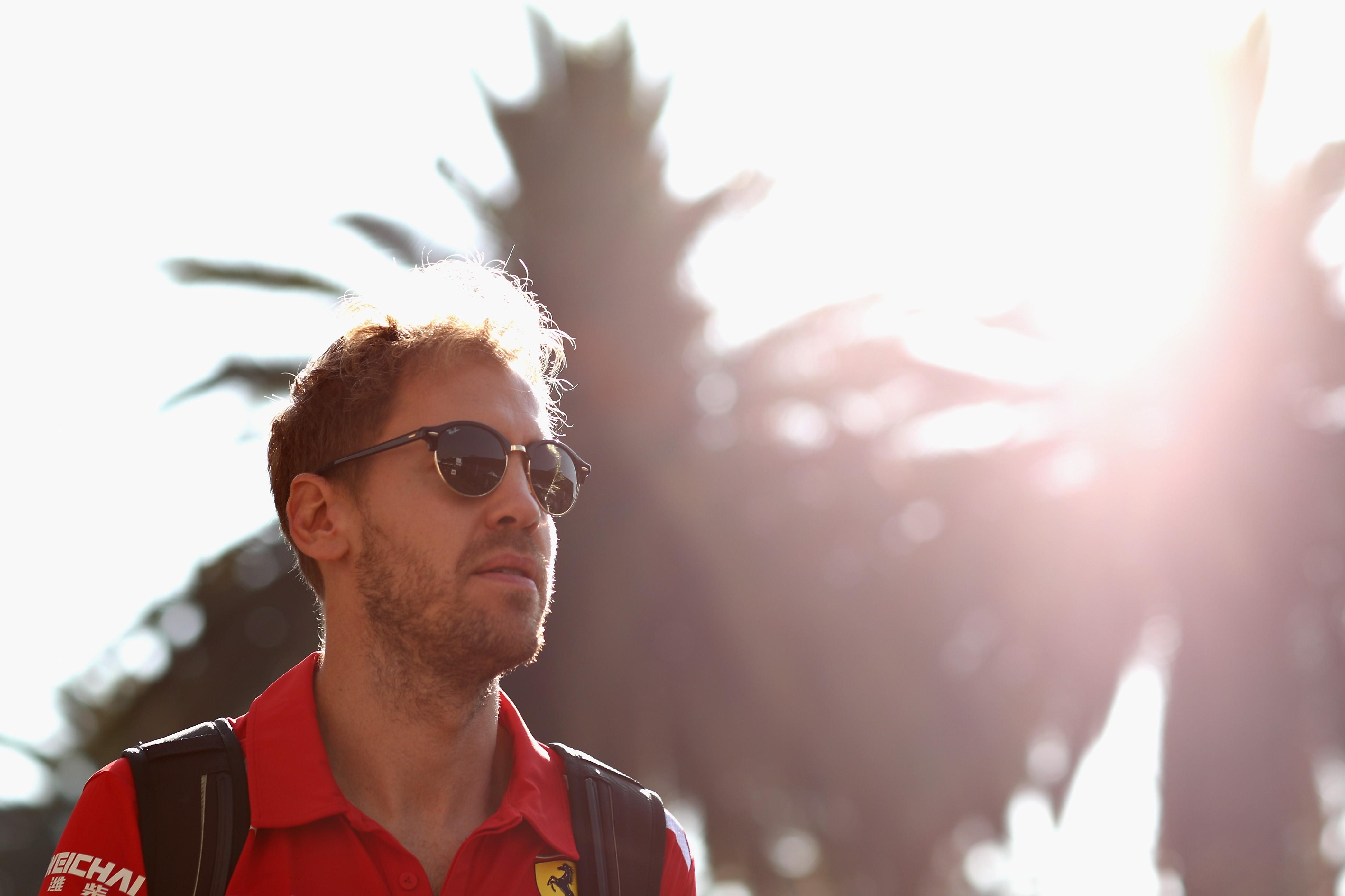 Sebastian Vettel (Ferrari) au Grand Prix du Mexique 2018
