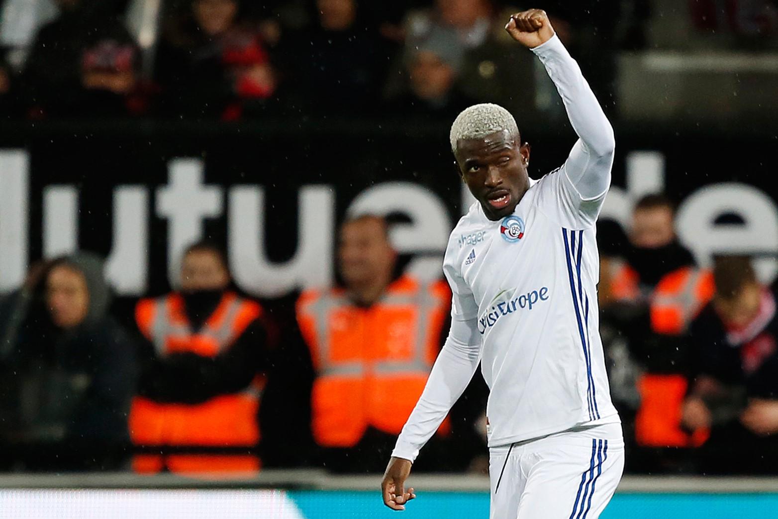 Lucien Zohi lors de Guingamp-Strasbourg / Ligue 1