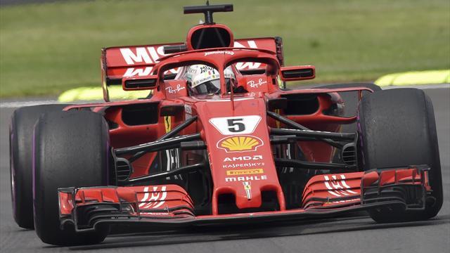 """""""Hay algo entre mis piernas..."""", la divertida conversación de Vettel con su equipo"""