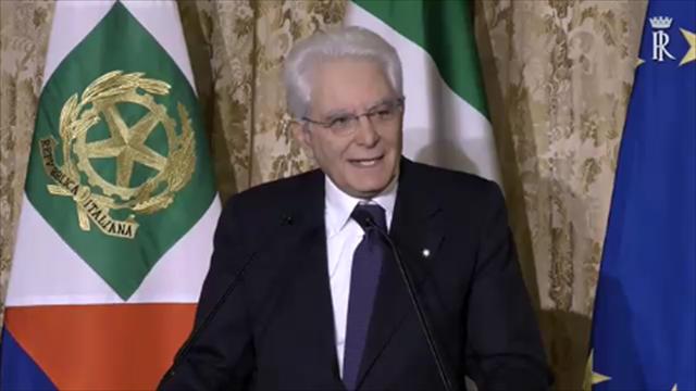 """Mattarella all'Italvolley: """"Vorrei che il Paese avesse la vostra coesione e correttezza"""""""