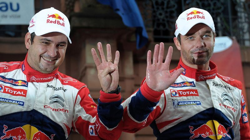 Loeb et Elena : Neuf titres mondiaux pour le duo star du rallye.