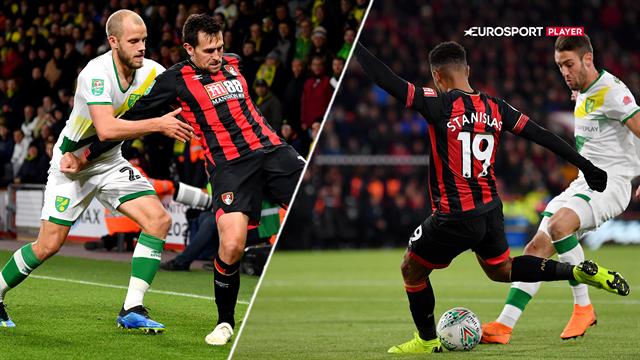 Highlights: Bournemouth fortsætter sin fine stime og slår Pukkis Norwich ud af Carabao Cup'en