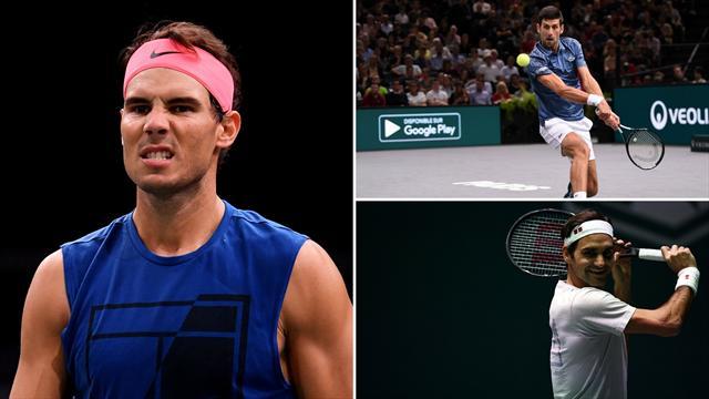 Nadal, Djokovic y Federer, grandes protagonistas de los logros del año en la ATP