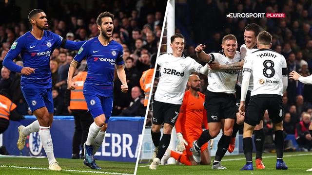 Highlights: To Derby-selvmål sendte Chelsea videre i Carabao Cuppen