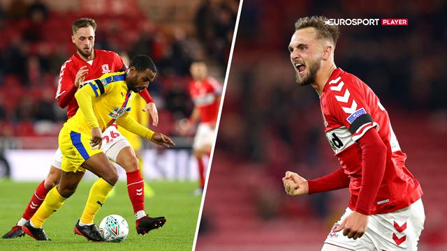 Highlights: Braithwaite og Middlesbrough tog en snæver sejr mod Crystal Palace