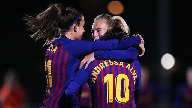 Champions femenina: El Barça golea también en Glasgow y está en cuartos (0-3, global 0-8)