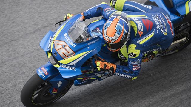 Alex Rins snelste in vrije training Sepang