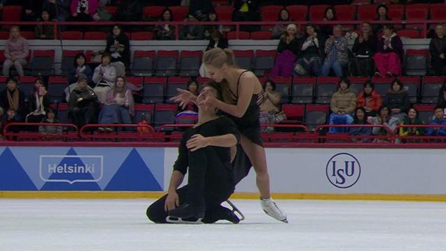 Степанова и Букин станцевали под стильный блюз и впервые победили на Гран-при среди дуэтов