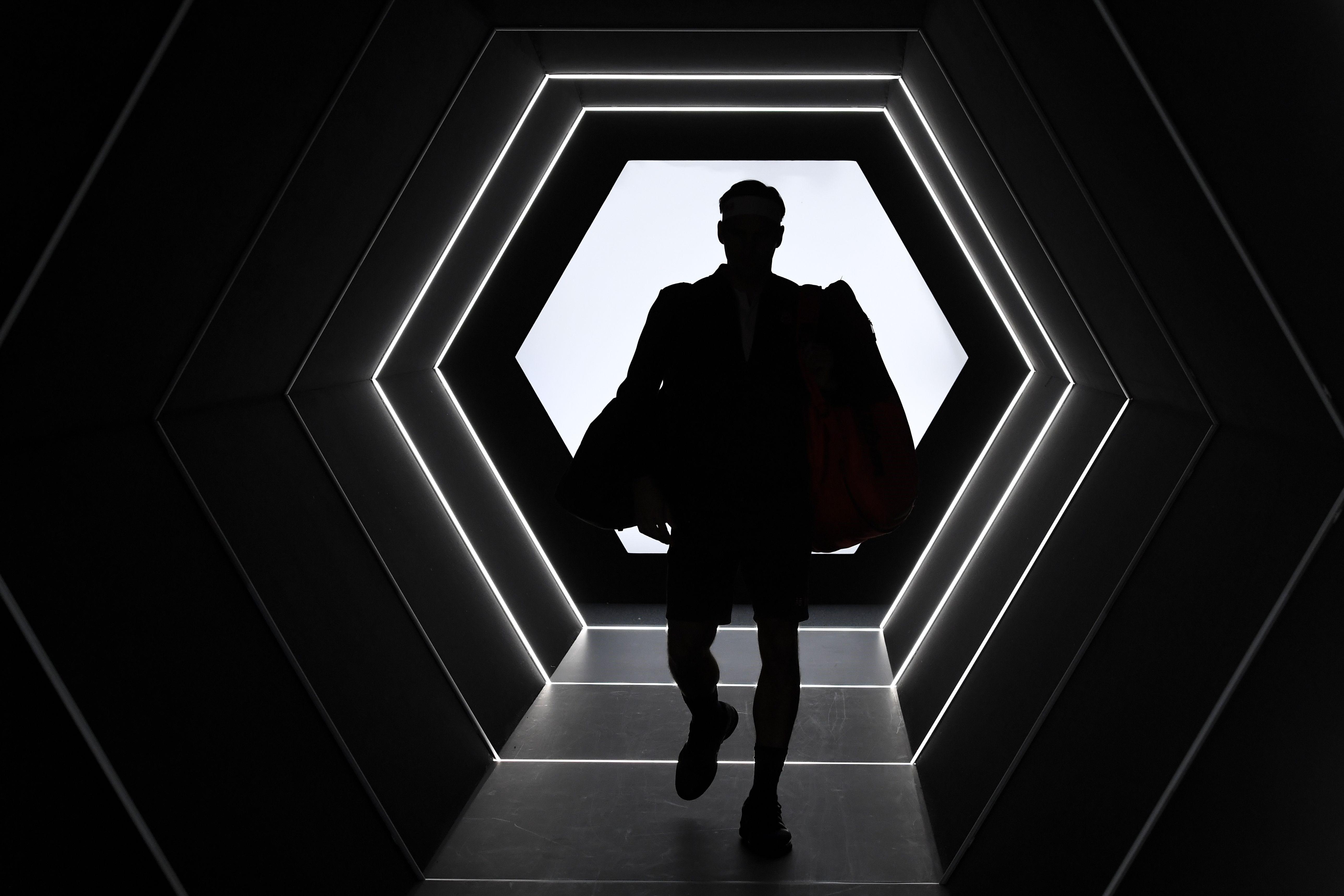 Roger Federer lors du Rolex Paris Masters