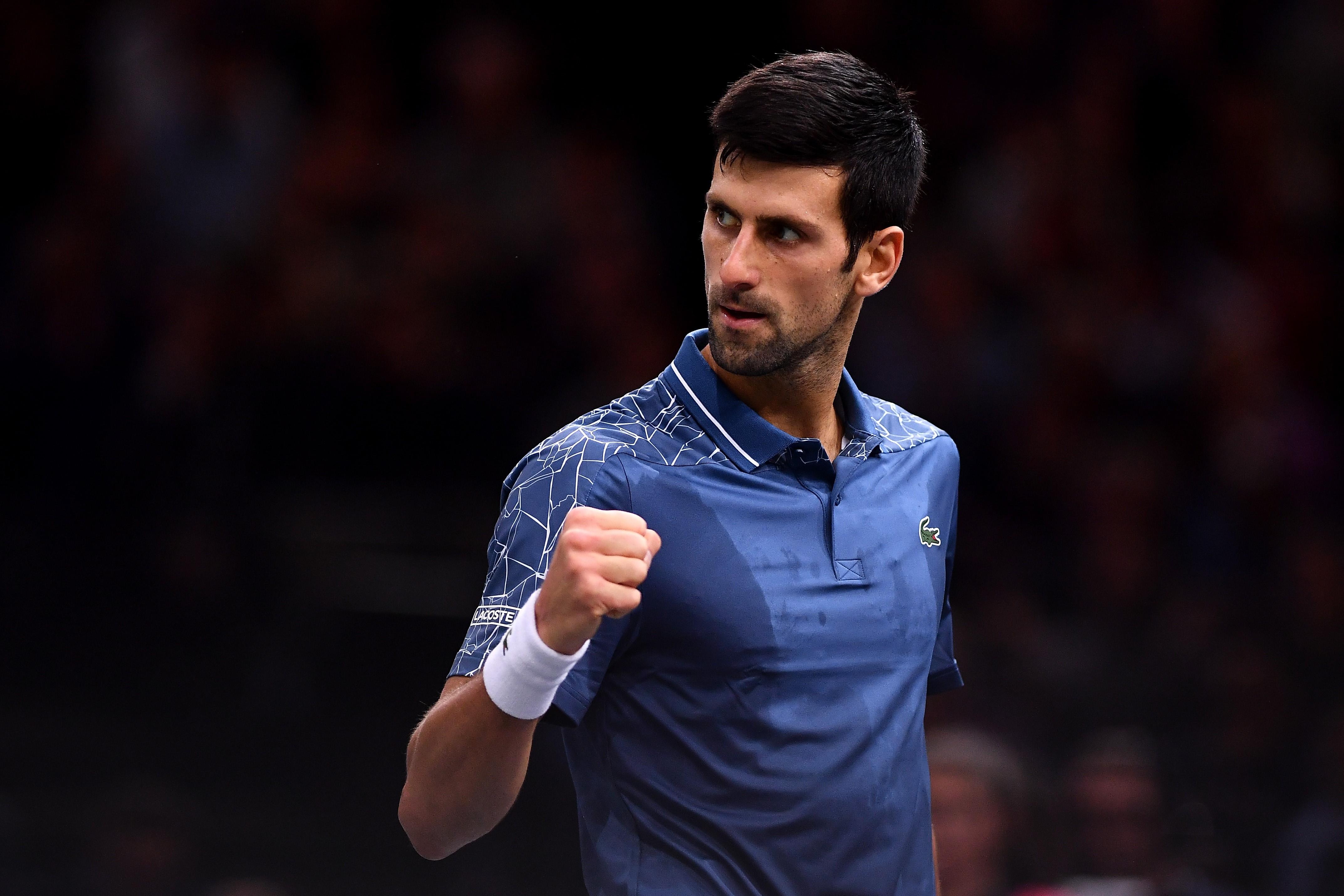 Novak Djokovic au Rolex Paris Masters