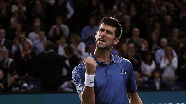 Novak Djokovic edges epic semi-final clash against Roger Federer in Paris