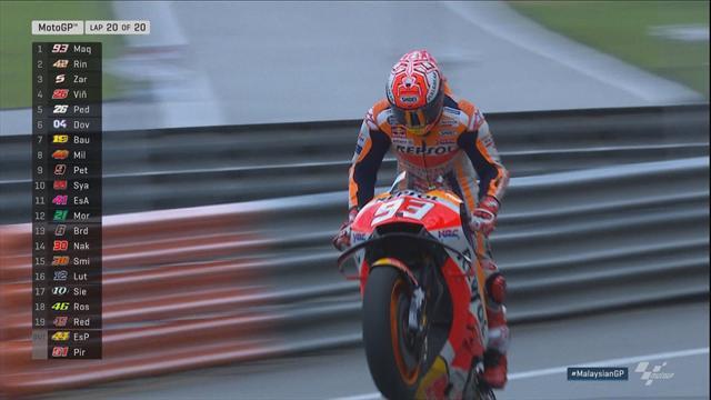 GP Maleisië: Niet te stoppen! Marquez wint ook in Sepang....