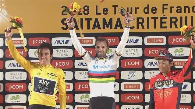 Valverde outsprints Thomas to win the Tour de France's Saitama Criterium