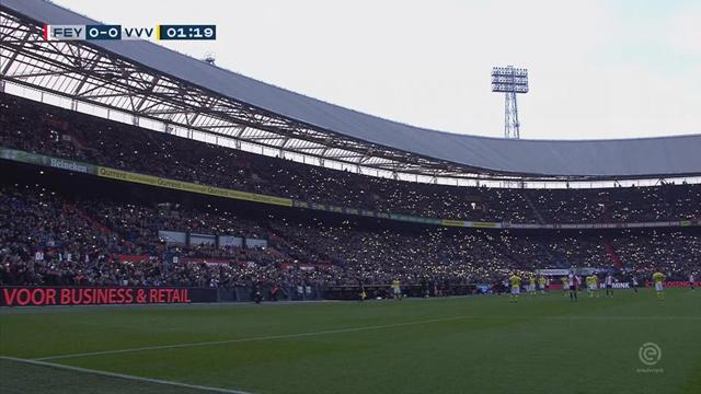На матче «Фейенорда» отключили свет: зрители врубили смартфоны, но игру все же отменили