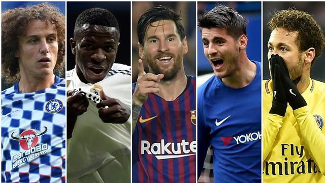 David Luiz, el Real Madrid, Messi, Morata y Neymar, los nombres del día