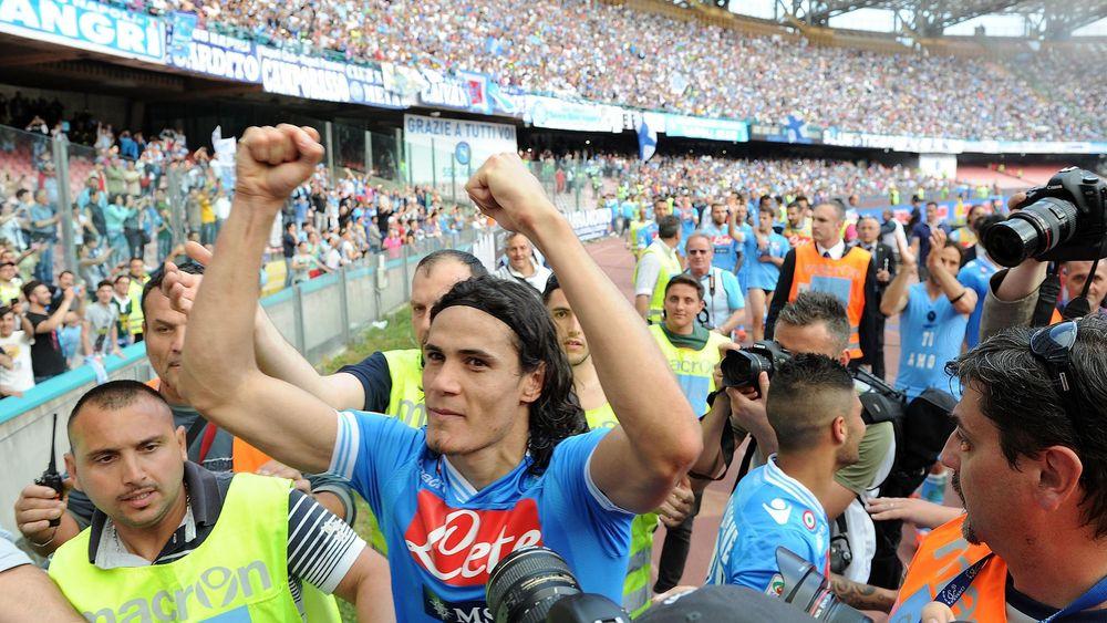 Edinson Cavani ai tempi di Napoli, stagione 2012/13