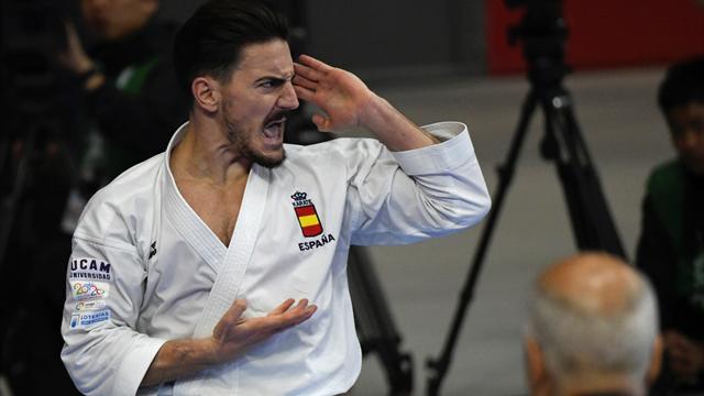 Damián Quintero, plata en kata en el mundial de Madrid ante el japonés Ryo Kiyuna